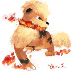 Growlithe by Effier-sxy