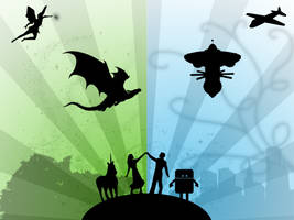 Fantasy Meets Science Fiction by jrweinman