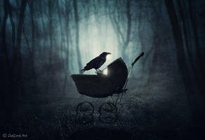 Abandoned Stroller by ZedLord-Art