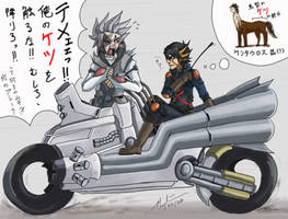 YGO 5Ds: bike ride....?? by MasamuneRevolution