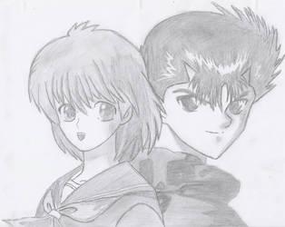 Yusuke and Keiko by IsunaKun