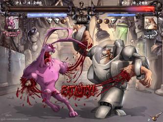 Pic Bot vs. Roughneck Rabbit by Kai-S