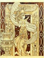 Isis Egyptian Goddess of motherhood and magic wood by YANKA-arts-n-crafts