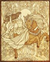 Celtic Goddess Epona protector of horses by YANKA-arts-n-crafts