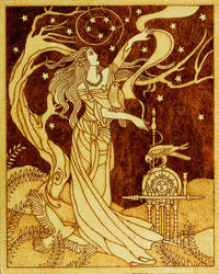 Frigg Norse goddess of wisdom wife of Odin by YANKA-arts-n-crafts