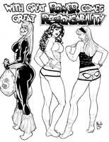 Spidey girls by PauloSiqueira