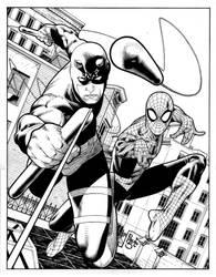 Daredevil and Spider- man comi by PauloSiqueira
