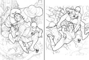 layouts - Spidey Norah comissi by PauloSiqueira