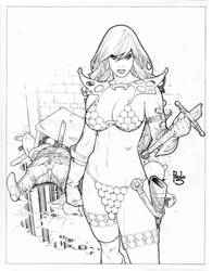 Red Sonja comission by PauloSiqueira