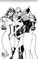 3 Marvel girls.... again by PauloSiqueira