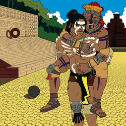 Unknown Mayan Couple by MeteoDesigns
