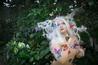 STOCK Butterfly girl I by MyladyTane