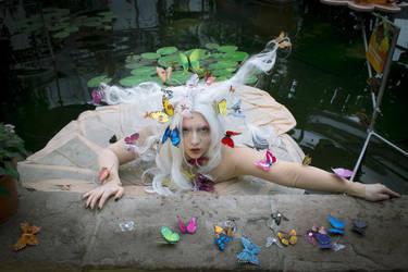 STOCK Butterfly girl VI by MyladyTane
