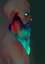 Colorful Beard by Lun-acy