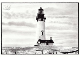 Yaquina Head Lighthouse by alessium