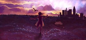 Field of purple by Sjusjun