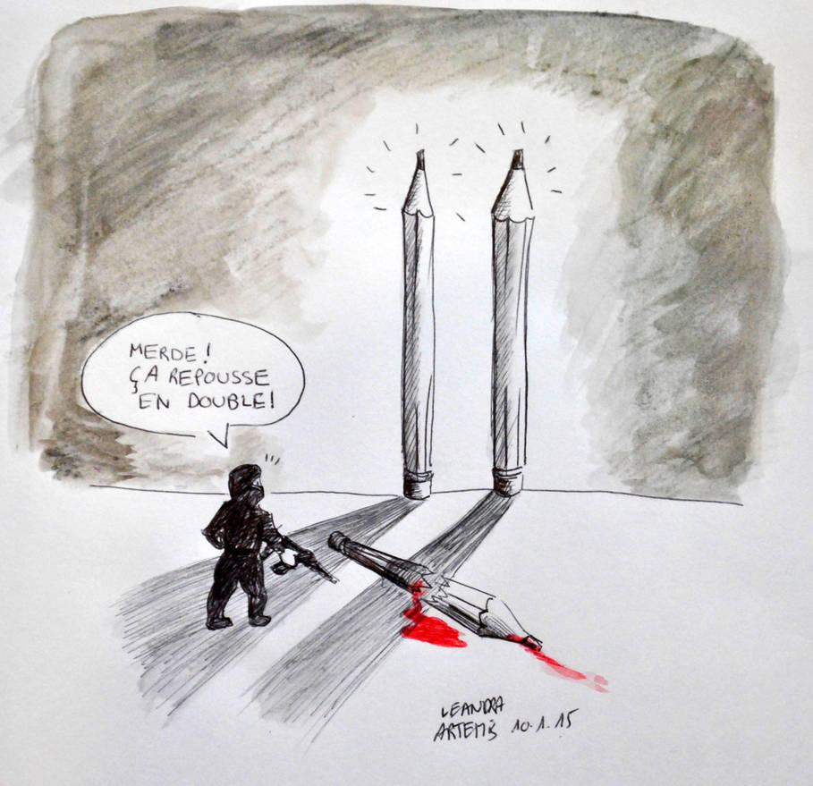 Liberte d'expression - #JesuisCharlie by LeandraArtemis