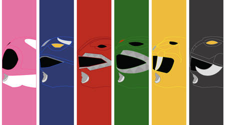 Mighty Morphin Power Rangers Wallpaper 2 by mexicoknight