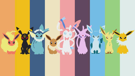 Eeveelution Wallpaper 1920 X 1080 by mexicoknight