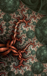 Copper dragon by FractalDesire