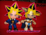Yami Yugi and Pharaoh Atem plush version by Momoiro-Botan