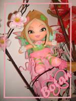 chibi Flora Winx plushie by Momoiro-Botan