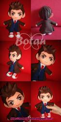 chibi Tenth Doctor plush version by Momoiro-Botan