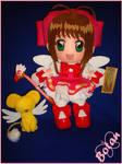 Sakura and Kerochan plush version by Momoiro-Botan