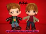 chibi Dean and Sam plush version by Momoiro-Botan