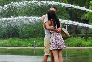 wet kisses by Dieffi