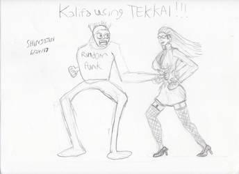 Kalifa using Tekkai by Shinjojin