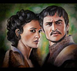 Oberyn Martell and Ellaria Sand by MeduZZa13