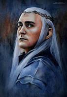 Thranduil. The Hobbit_Battle of five armies by MeduZZa13