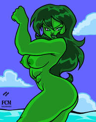 She-Hulk Show-off colors by FCM-NileSnake