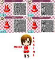 ACNL QR Code 17 - MEIKO Sakine by Plucky-Nova
