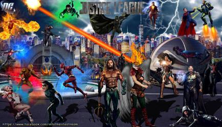 Justice League Epic Battle by Gyaldhart