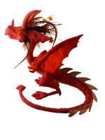 Red sakura dragon by Sci00