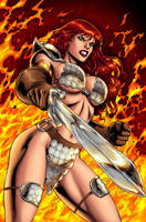 Red Sonja 39 page 22 by wgpencil