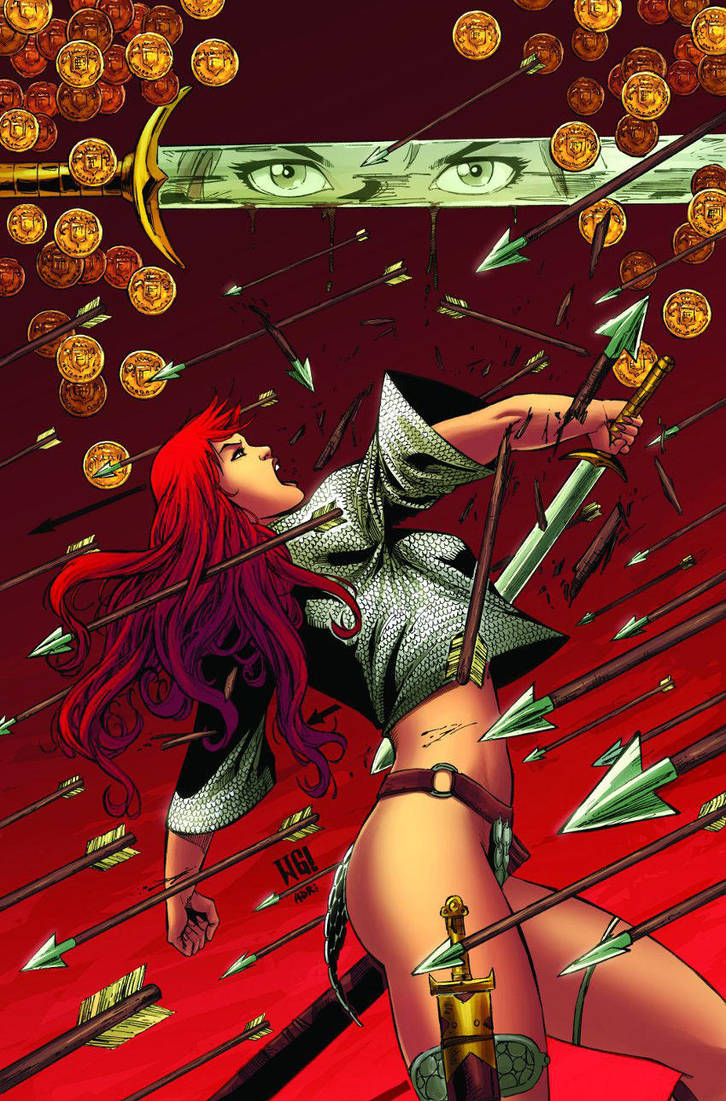 Red sonja 58 cover by wgpencil