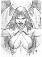 sketche vampirella by wgpencil