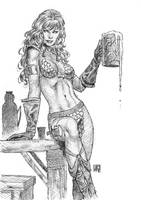 Red Sonja Sketch by wgpencil
