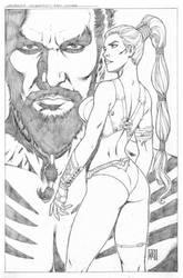 Daenaerys-Drogo by wgpencil