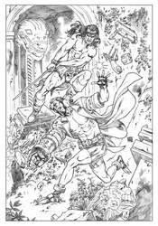 Conan Vs Hellboy by wgpencil