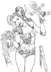 Harleyquinn by wgpencil