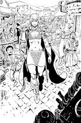 Red Sonja/Tarzan #1-Page 06 by wgpencil