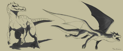 Sketch Dump - Monsters 2 by davi-escorsin