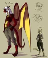 Colored sketch - Dragoness by davi-escorsin