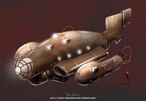 Steampunk ship by davi-escorsin