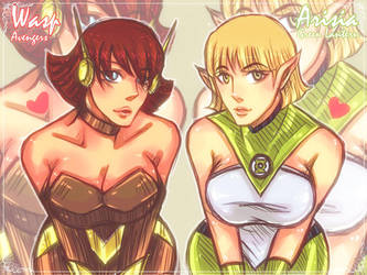 Wasp and Arisia by smoothies79
