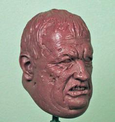 Butcher Zombie Portrait by TKMillerSculpt